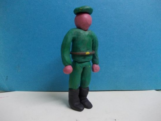 Солдатики из пластилина своими руками поэтапно